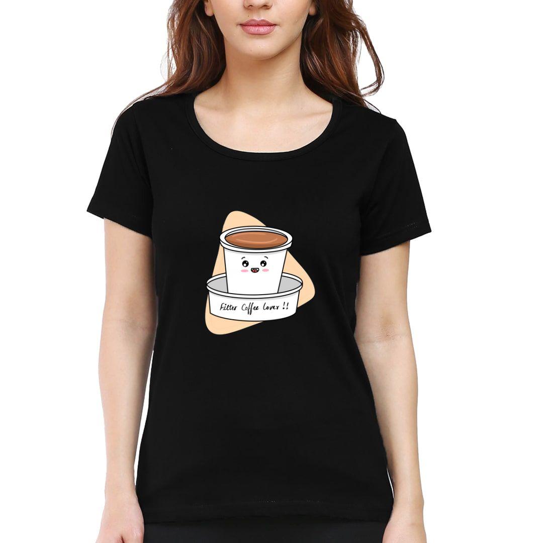 82db15b0 Filter Coffee Lover Women T Shirt Black Front.jpg