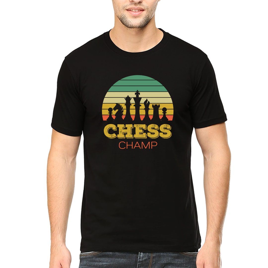 9f53f2f9 Chess Champ Vintage Retro Style Design For Chess Players Men T Shirt Black Front.jpg
