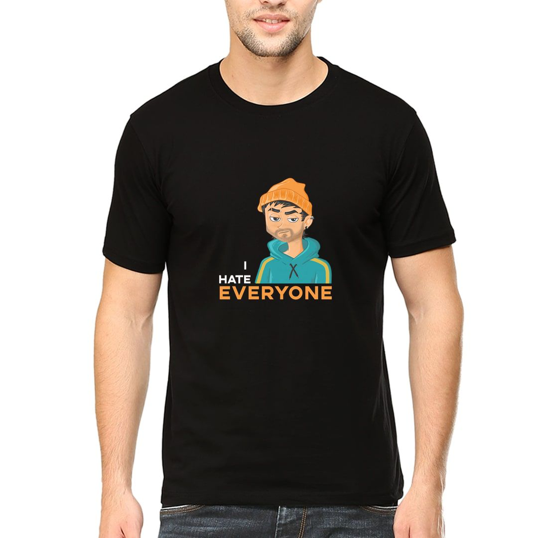 A4d1dbc8 I Hate Everyone Grumpy Boy Funny Art For Rude Introverts Men T Shirt Black Front.jpg
