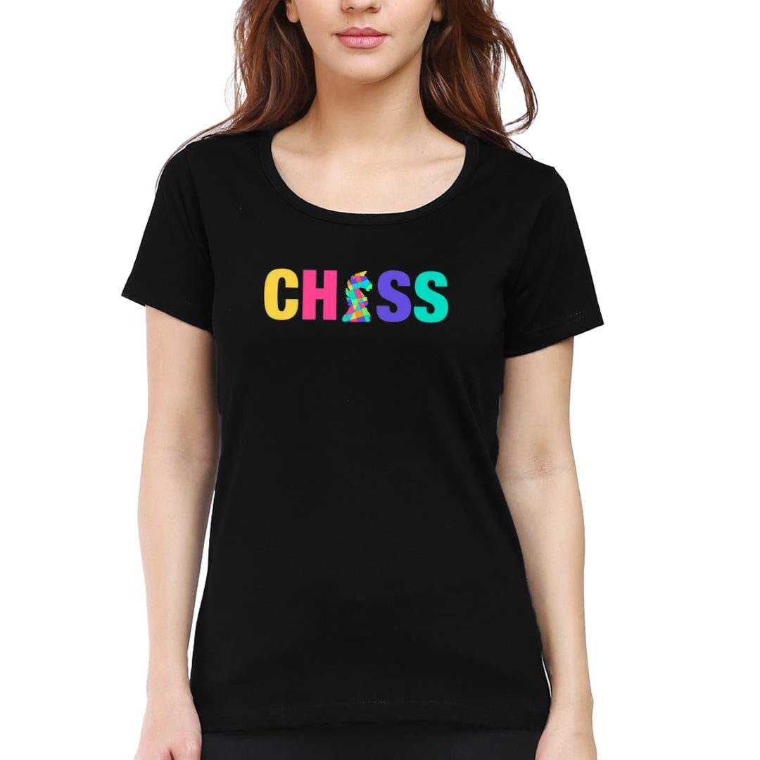 Bea61199 Chess Creative And Colourful Knight For Chess Players Women T Shirt Black Front.jpg