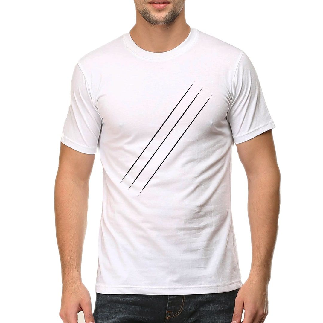 Bed5308d Wolfs Scratch For Animal Lovers Men T Shirt White Front.jpg