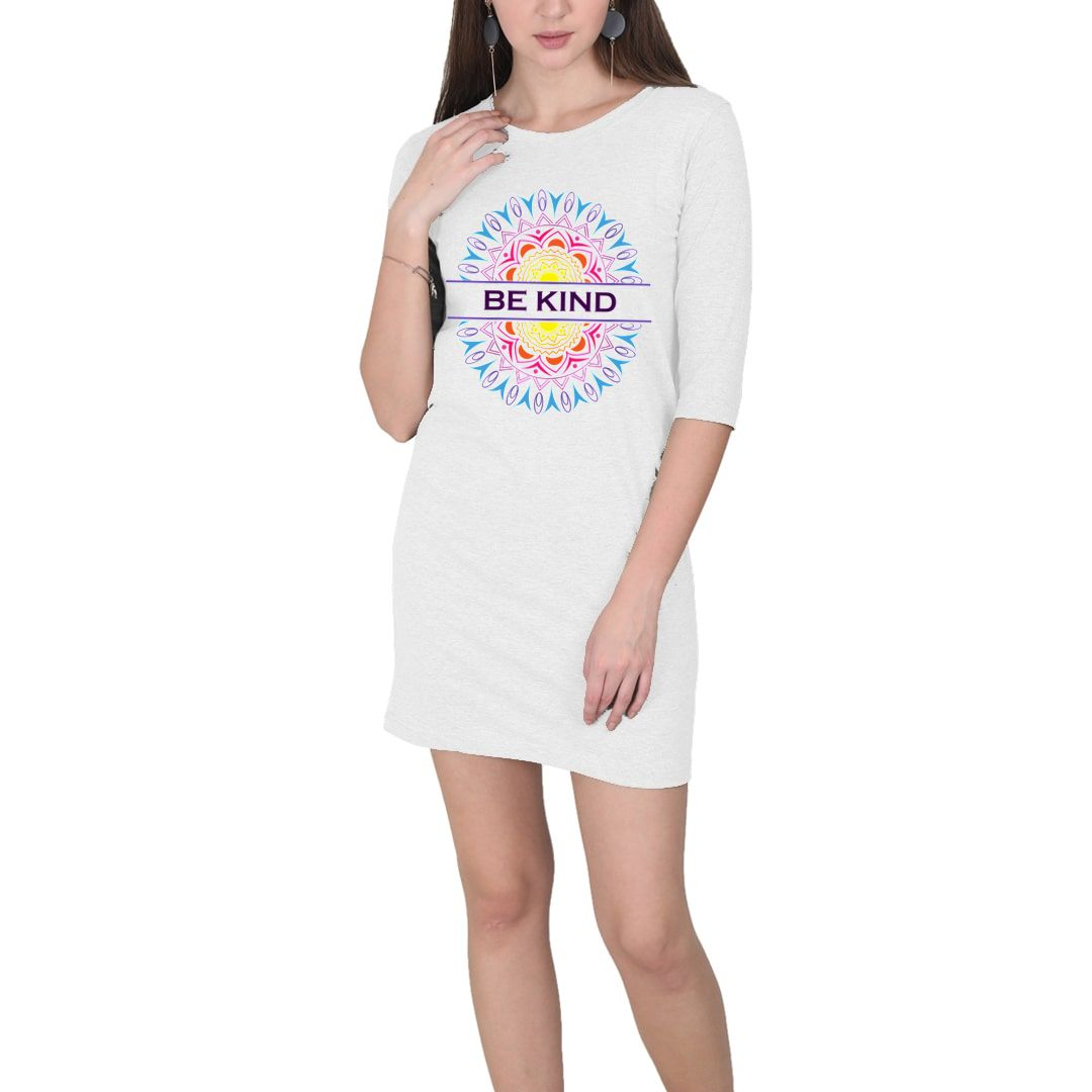 C4f8749d Be Kind Mandala Art Women T Shirt Dress White Front.jpg