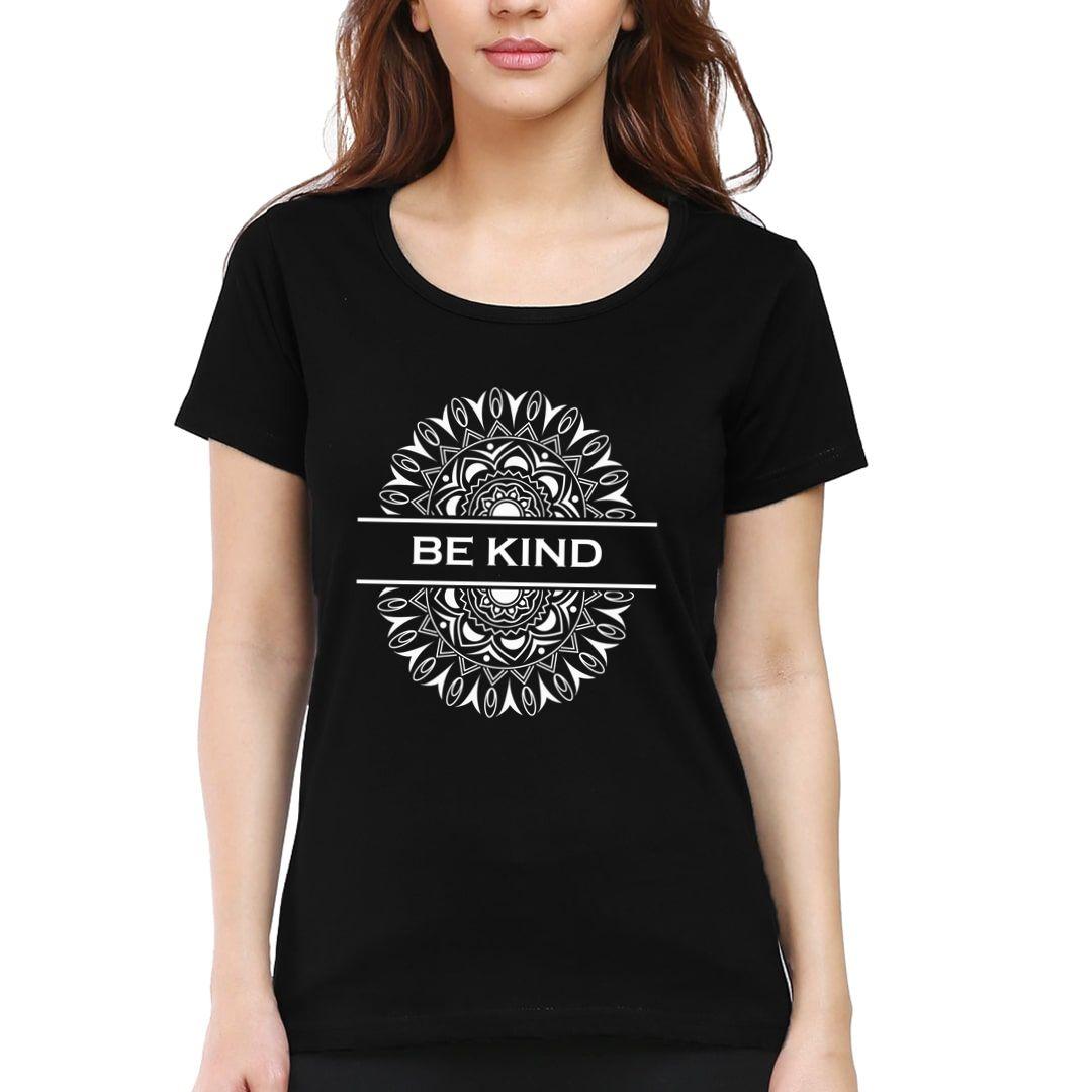 C940b852 Be Kind Mandala Art Women T Shirt Black Front.jpg