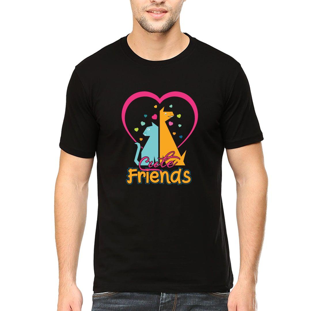 D8ce2002 Cute Friends For Pet Lovers And Pet Parents Men T Shirt Black Front.jpg