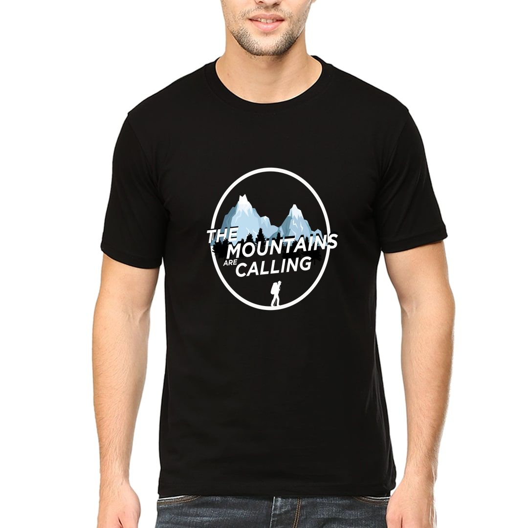 Dcde3519 The Mountains Are Calling Men T Shirt Black Front.jpg