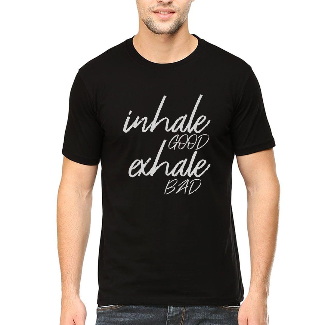 Ebbee398 Inhale Good Exhale Bad Pranayama Yoga Men T Shirt Black Front.jpg