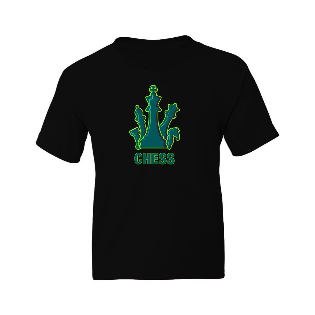 Ee89bf18 Bright And Colourful Design For Chess Players Kids T Shirt Black Front.jpg