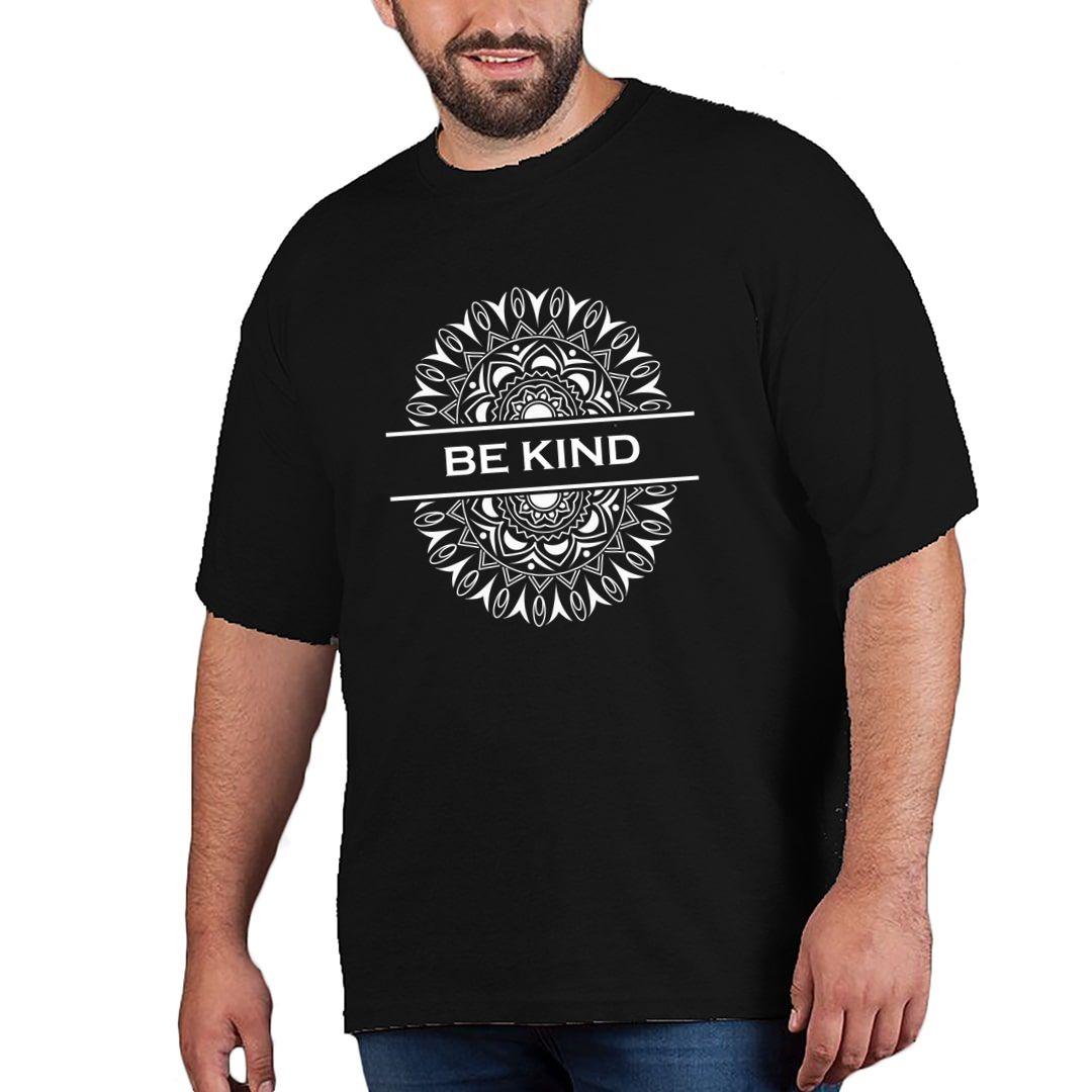 F9208b1c Be Kind Mandala Art Plus Size T Shirt Black Front.jpg