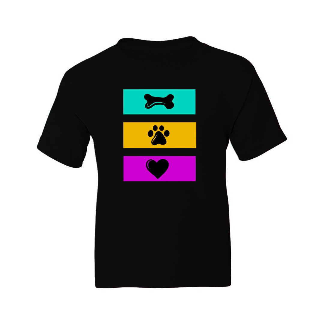 0fea8ffd Eat Play Love For Dog Lovers Kids T Shirt Black Front.jpg