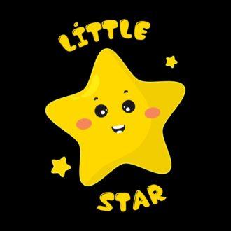 1a0e6c41 cute little star black