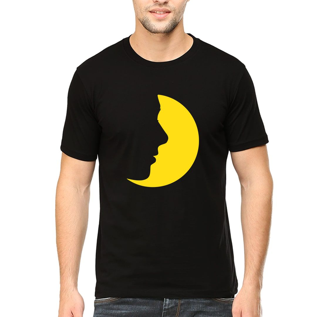 2c2ea584 Sun With Face Clever Art Shadow Silhouette Negative Space Men T Shirt Black Front.jpg
