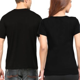 42cb97b0 plain couple t shirts model mockup black back min