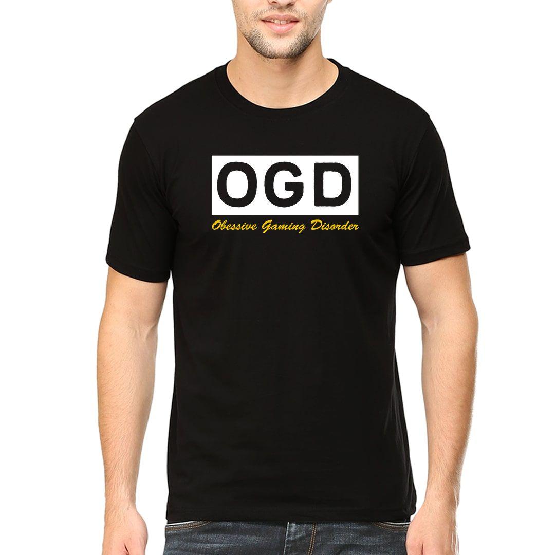 5a3ce6a9 Ogd Obsessive Gaming Disorder Funny Design For Gamers Men T Shirt Black Front.jpg