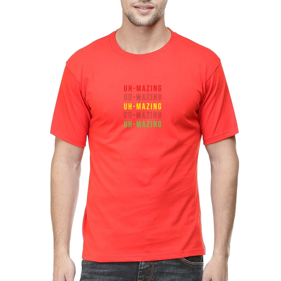 6cbb8638 Uh Mazing Men T Shirt Red Front.jpg