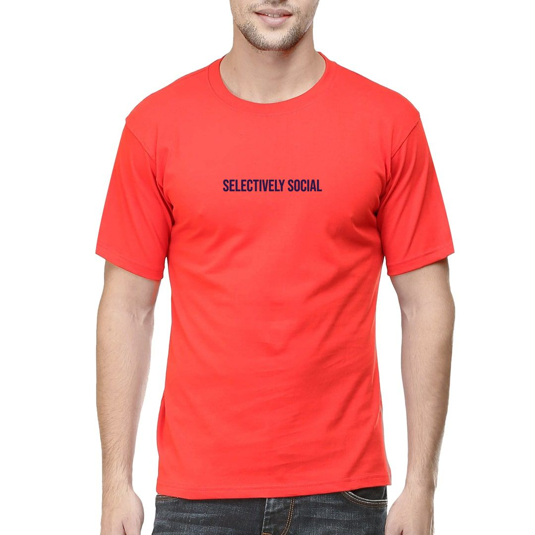 87f10aeb Selectively Social Men T Shirt Red Front.jpg