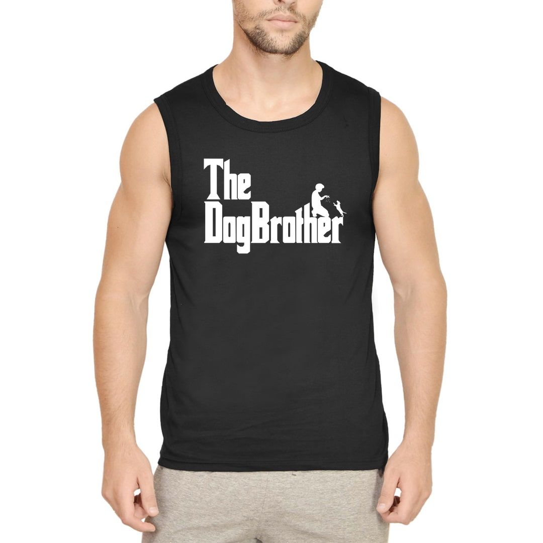 Ab8f7b22 The Dogbrother Classic Movie Gift For Dog Lovers Men Sleeveless T Shirt Vest Black Front.jpg