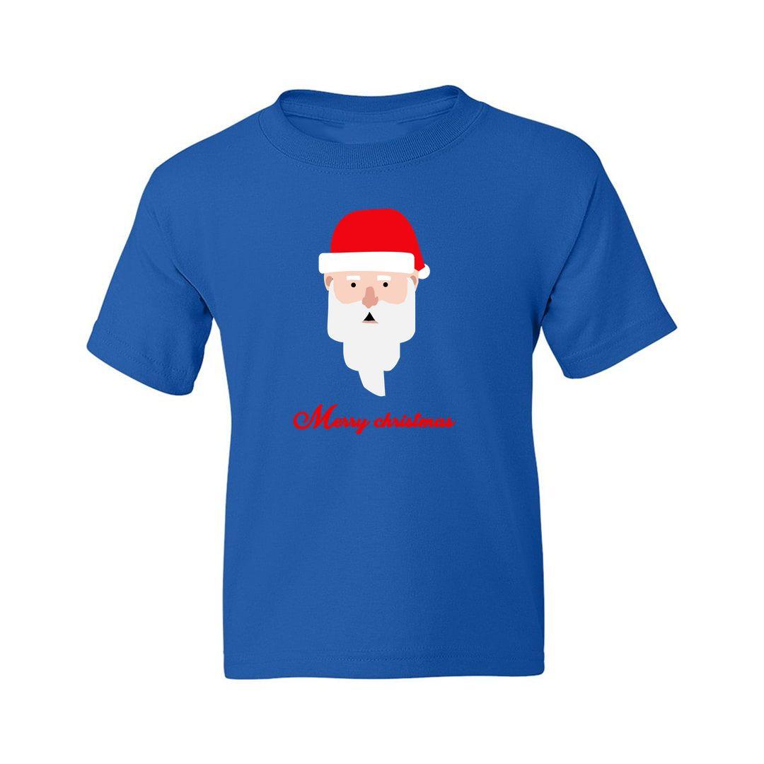 Aca59aff Merry Christmas Santa Claus Special Kids T Shirt Royal Blue Front.jpg