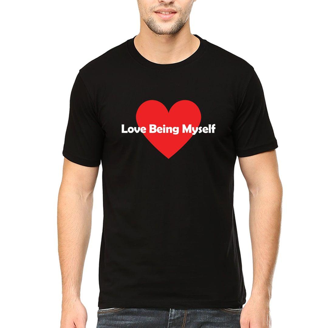 B1efd144 Love Being Myself Men T Shirt Black Front.jpg