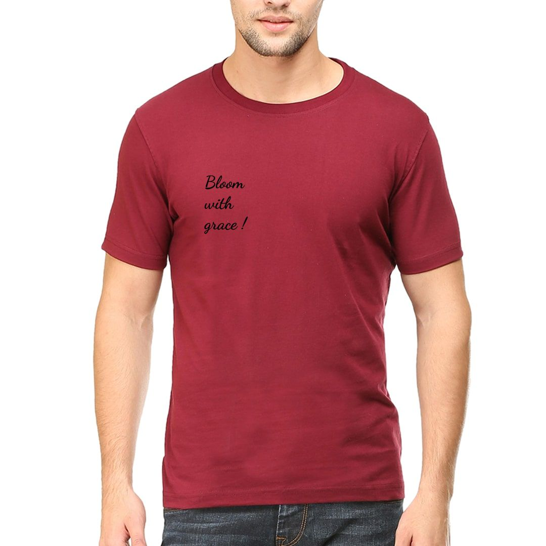 B3d42694 Bloom With Grace Men T Shirt Maroon Front.jpg