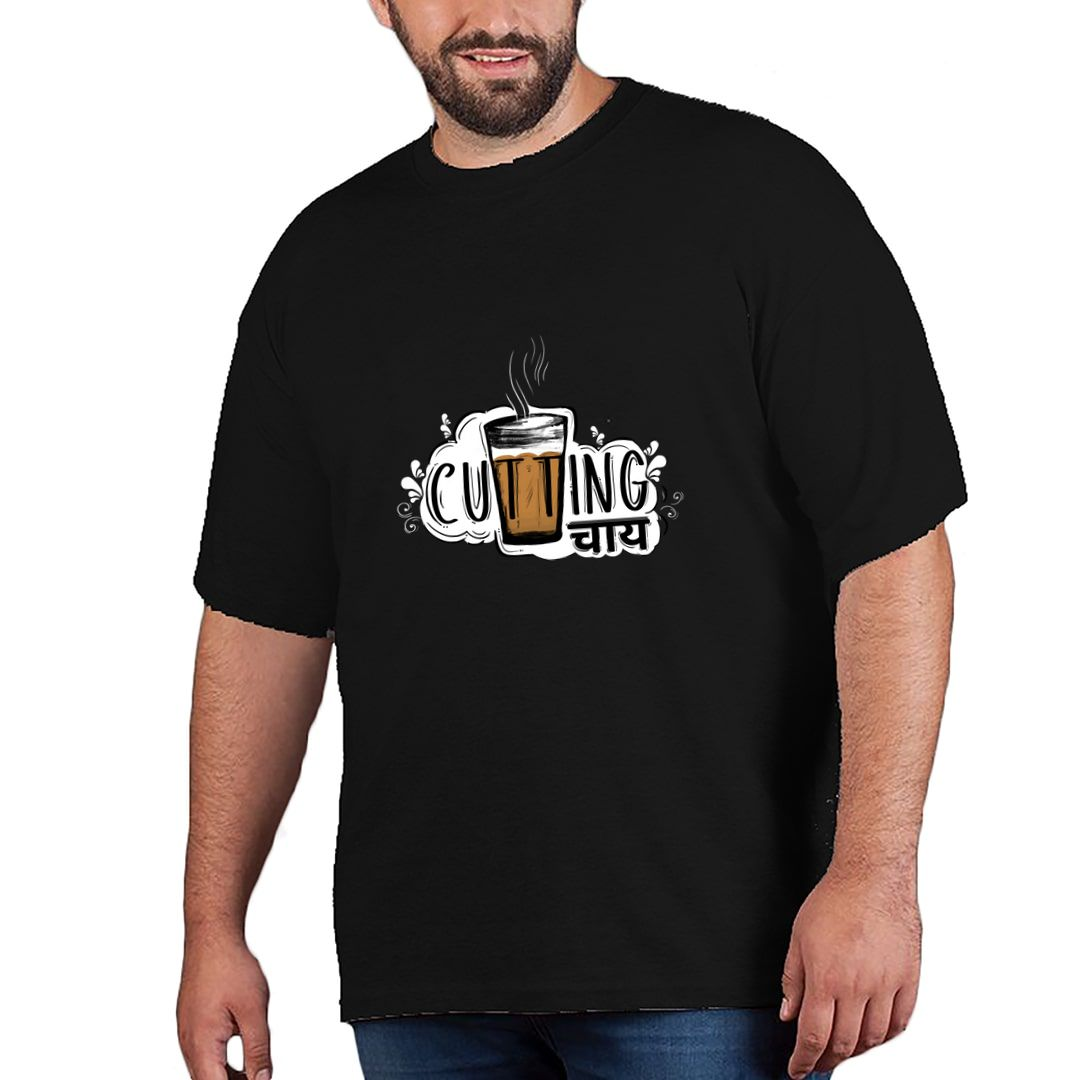 Bd357267 Cutting Chai For Tea Lovers Plus Size T Shirt Black Front.jpg