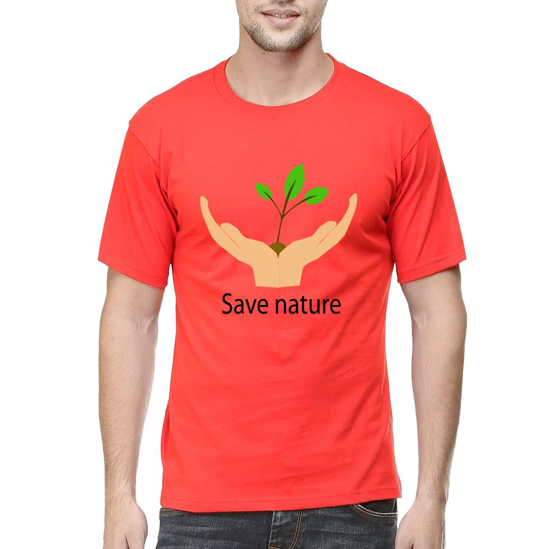 C582b2a1 Save Nature Men T Shirt Red Front.jpg