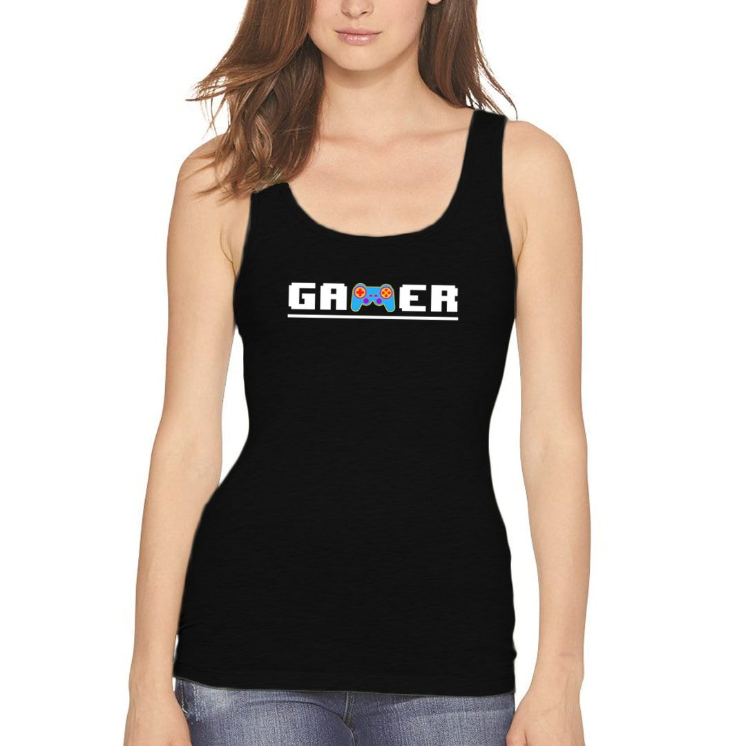 C69ccf65 Retro Gamer 8bit 90s Kid Women Tank Top Black Front.jpg