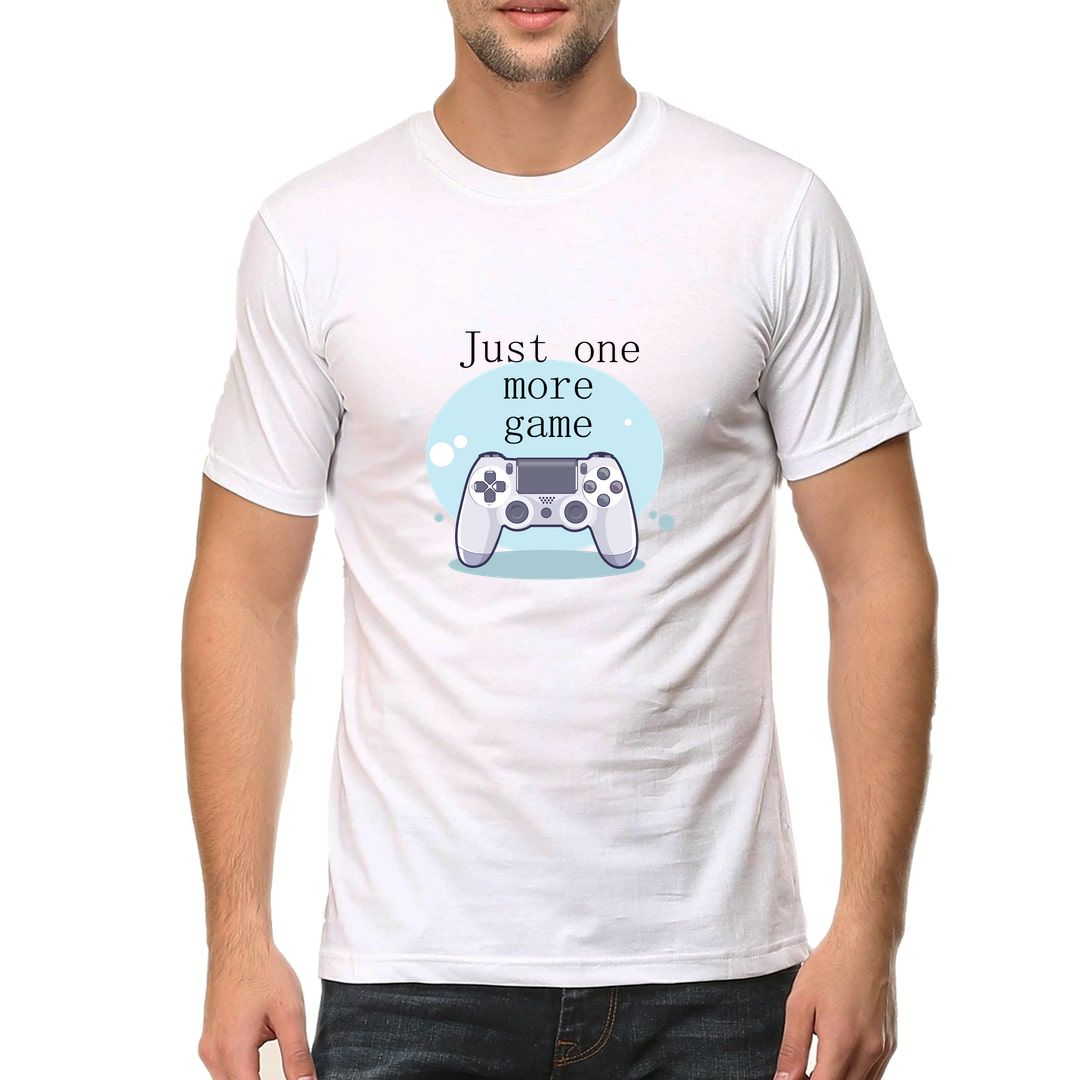 Cb4f6e6c Just One More Game Men T Shirt White Front.jpg