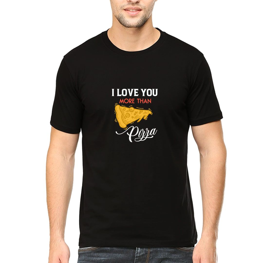 F7bf36af I Love You More Than Pizza Foodie Valentines Day Gift Men T Shirt Black Front.jpg