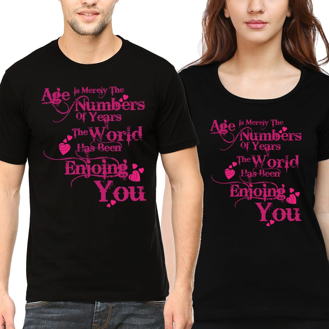 23c90e63 Age Is Merely The Number Of Years. Couple T Shirts