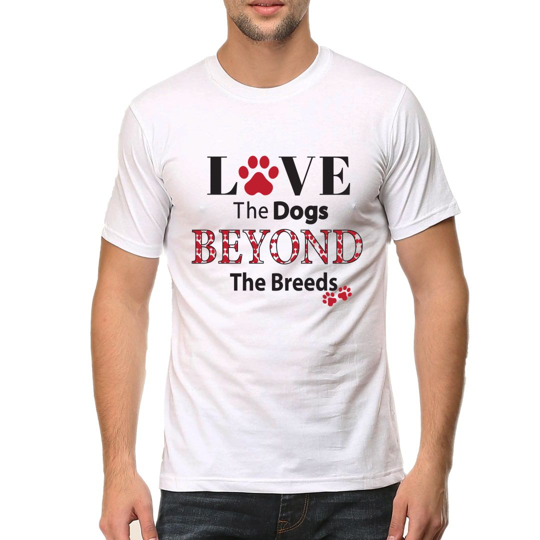 2a5508e7 Love The Dogs Beyond The Breeds Men T Shirt White Front.jpg
