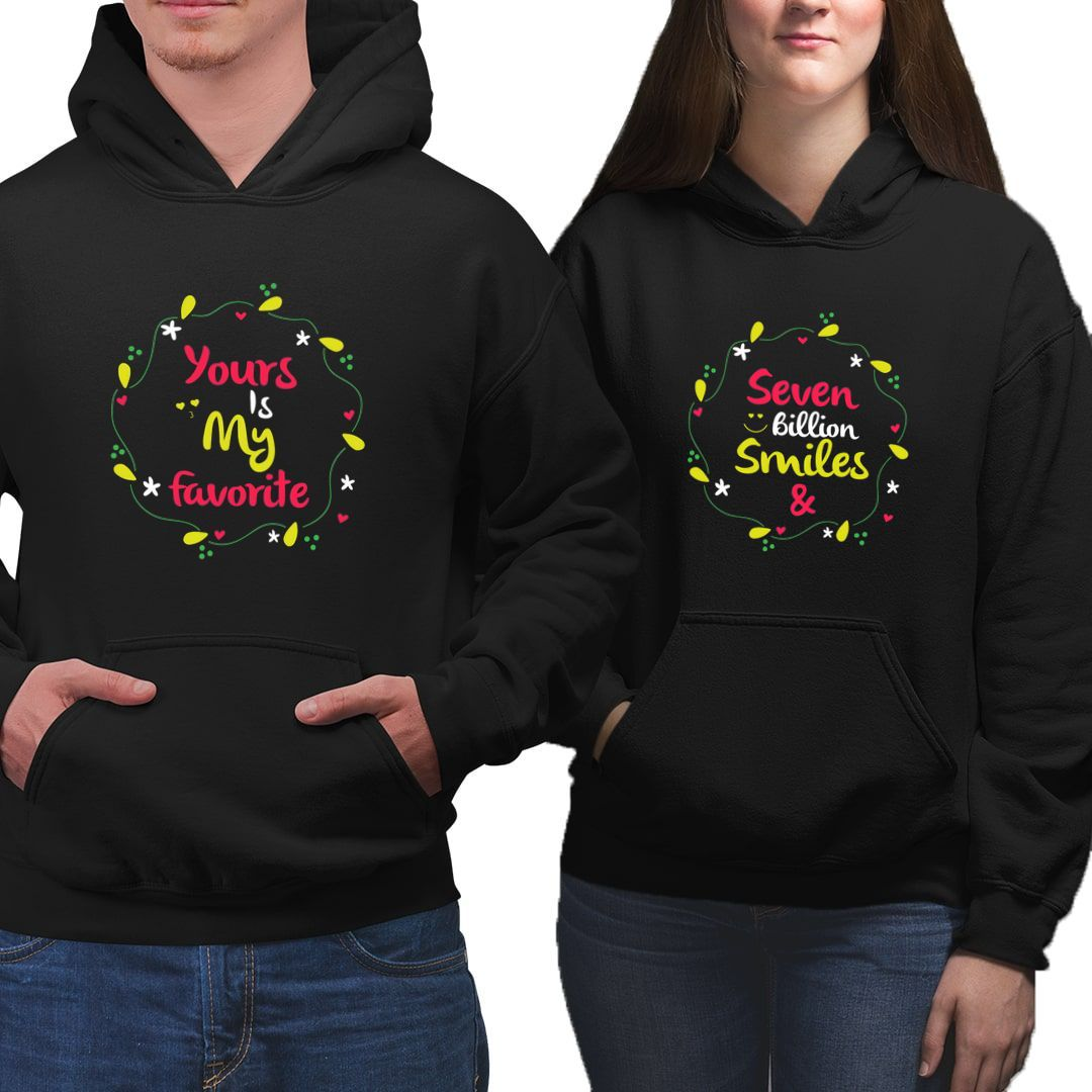 2d3a2d44 7 Billion Smiled And Yours Is My Favourite Cute Couple Hoodies 1