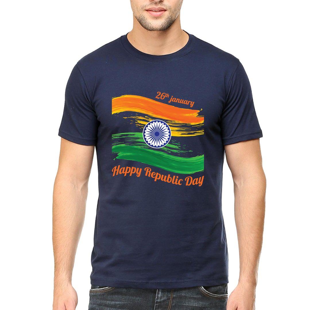 31a5c522 Happy Republic Day 26th Jan Men T Shirt Navy Front.jpg