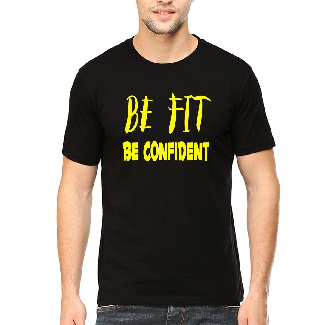 4ab0dab0 Be Fit Be Confident Men T Shirt Black Front.jpg