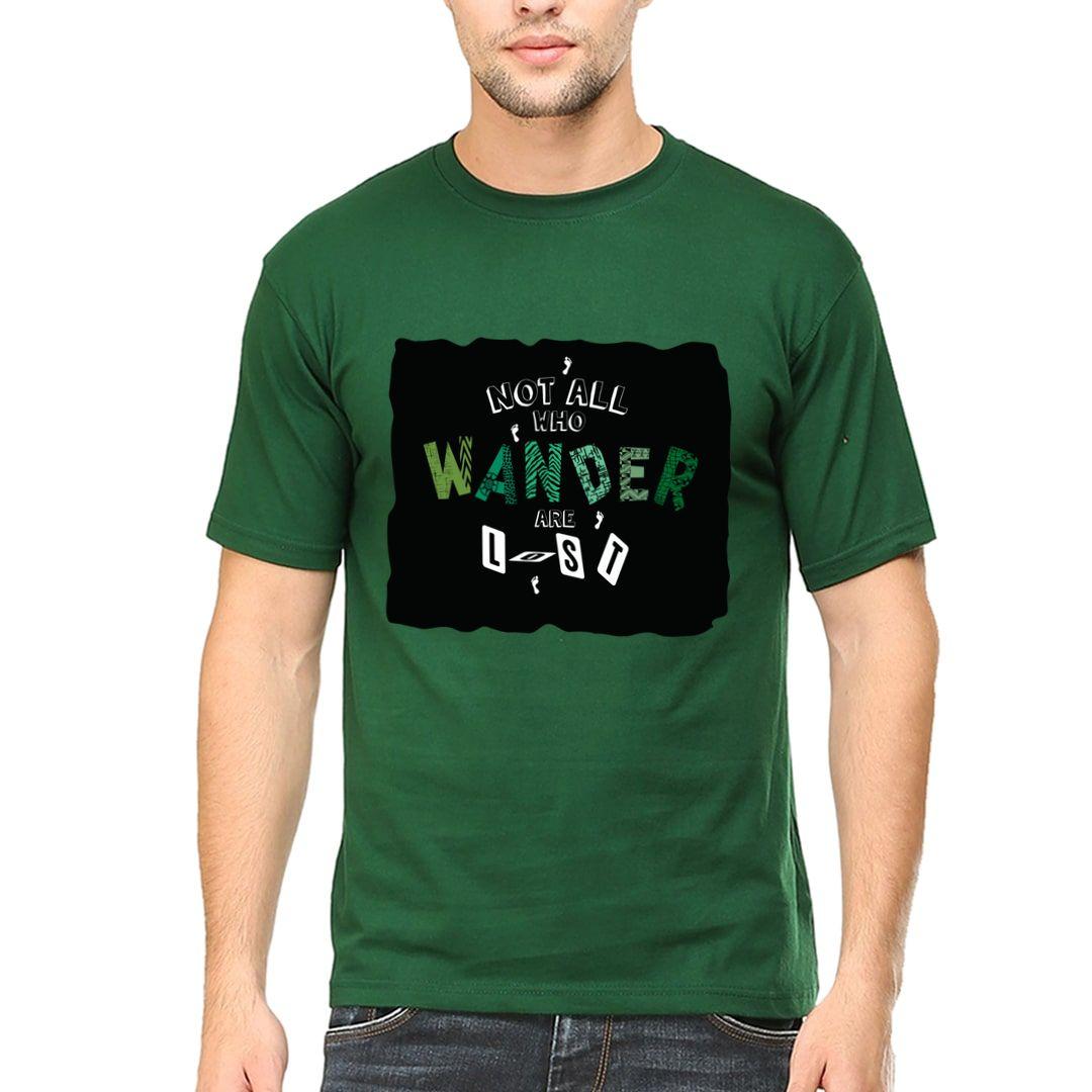 4ff10a32 Wanderlust Men T Shirt Bottle Green Front.jpg
