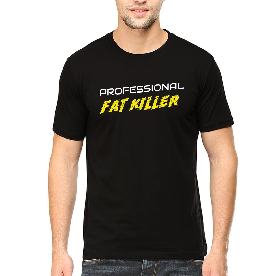 51e314e2 Professional Fat Killer Men T Shirt Black Front.jpg
