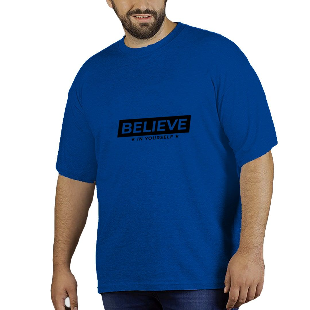58bc09e2 Believe In Yourself Plus Size T Shirt Royal Blue Front.jpg