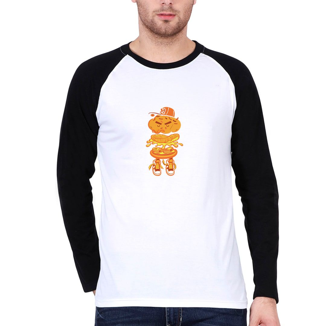 609b528b Eat Abstract Men Raglan Full Sleeve T Shirt Black White Front.jpg