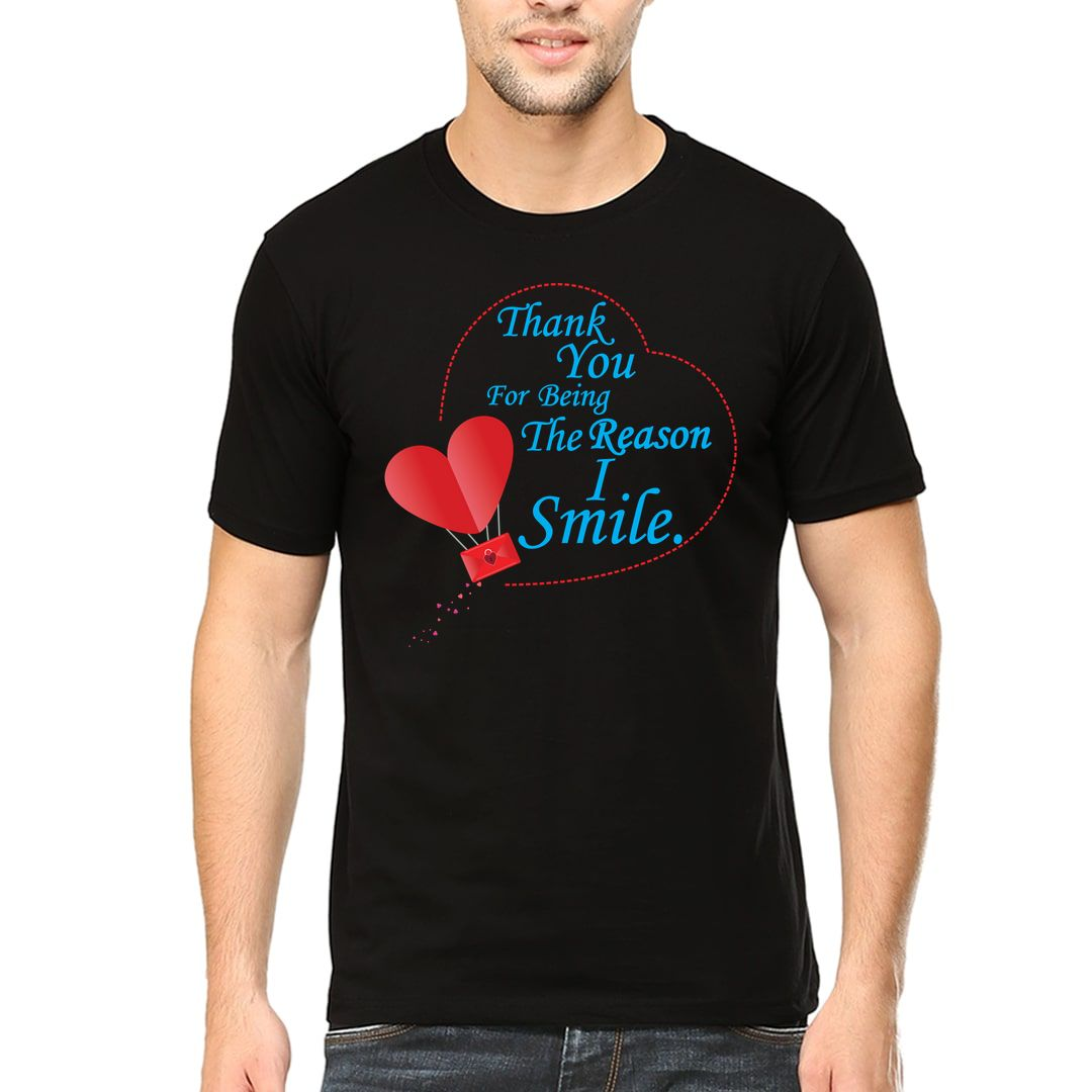 768815a4 I Smile Thank You For Being The Reason Men T Shirt Black Front.jpg