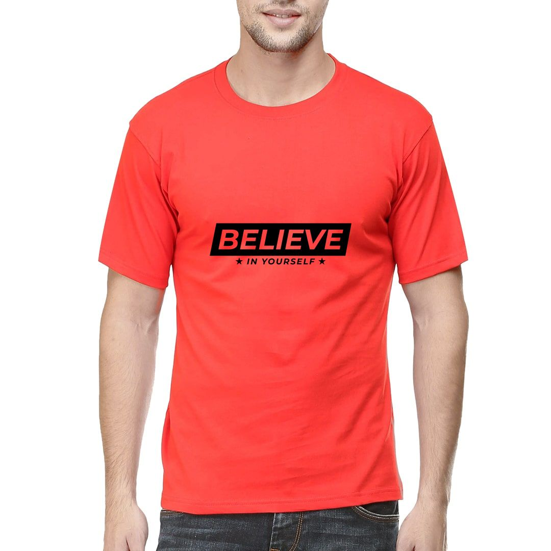 7deae985 Believe In Yourself Men T Shirt Red Front.jpg