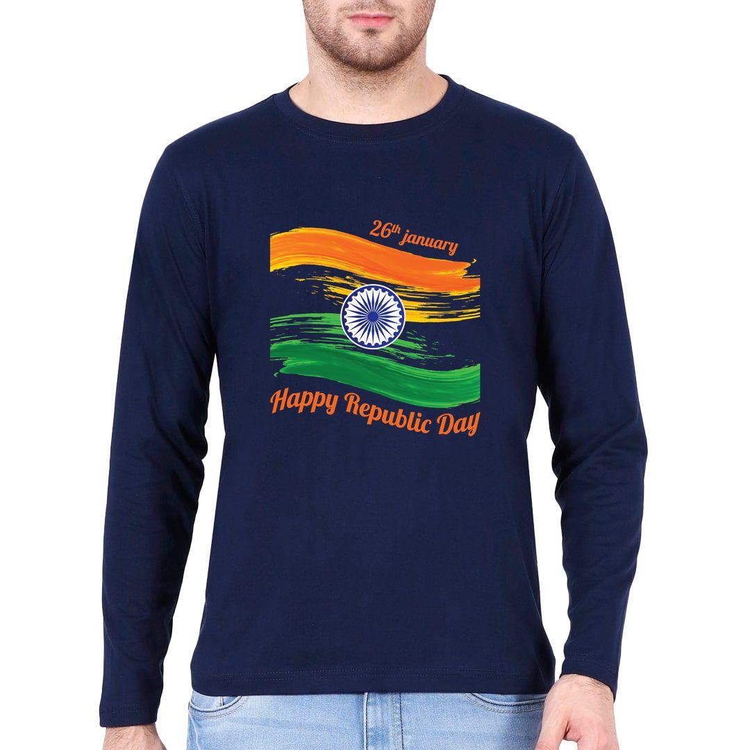 B5bc1f0f Happy Republic Day 26th Jan Full Sleeve Men T Shirt Navy Front.jpg