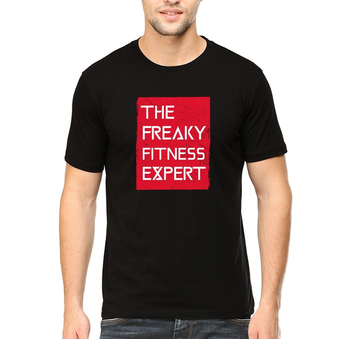 Bd6bfc6b Freaky Fitness Expert Men T Shirt Black Front.jpg