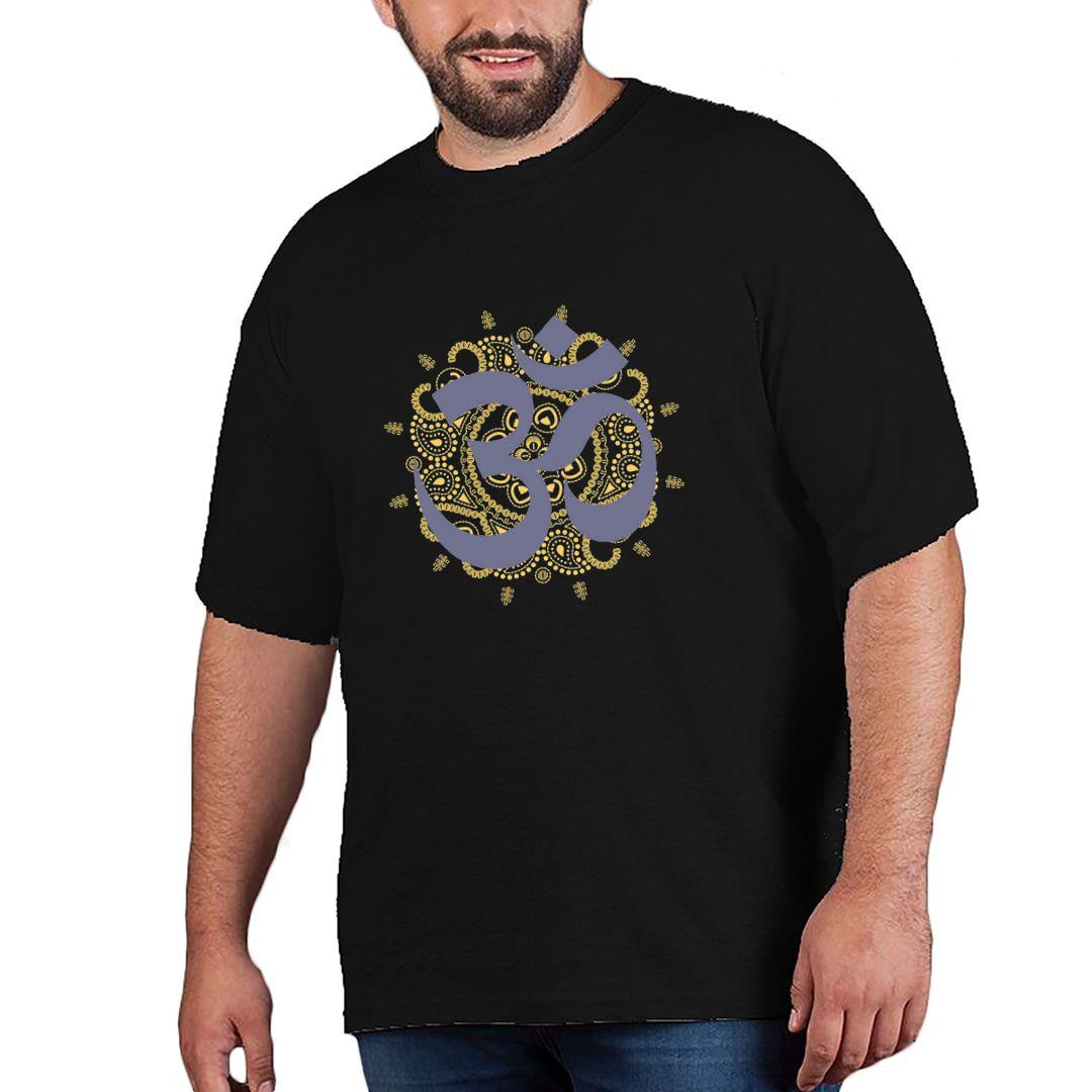 C85034ff Shiva Om Plus Size T Shirt Black Front.jpg