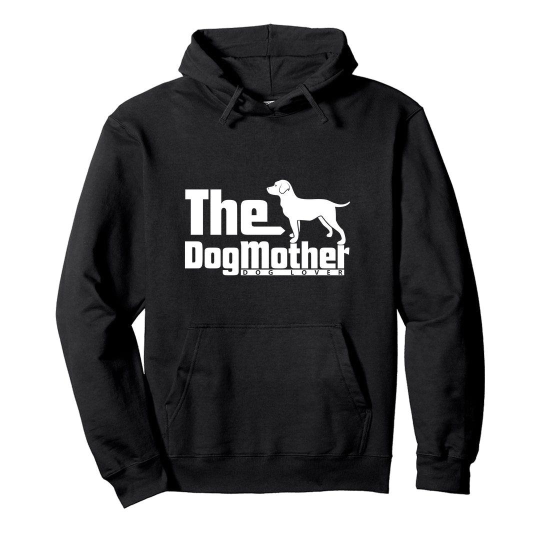 D03ee16a The Dog Mother Unisex Hooded Sweatshirt Hoodie Black Front.jpg