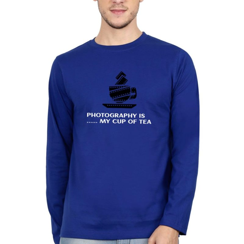 d8400323 photography is my cup of tea full sleeve men t shirt royal blue front.jpg