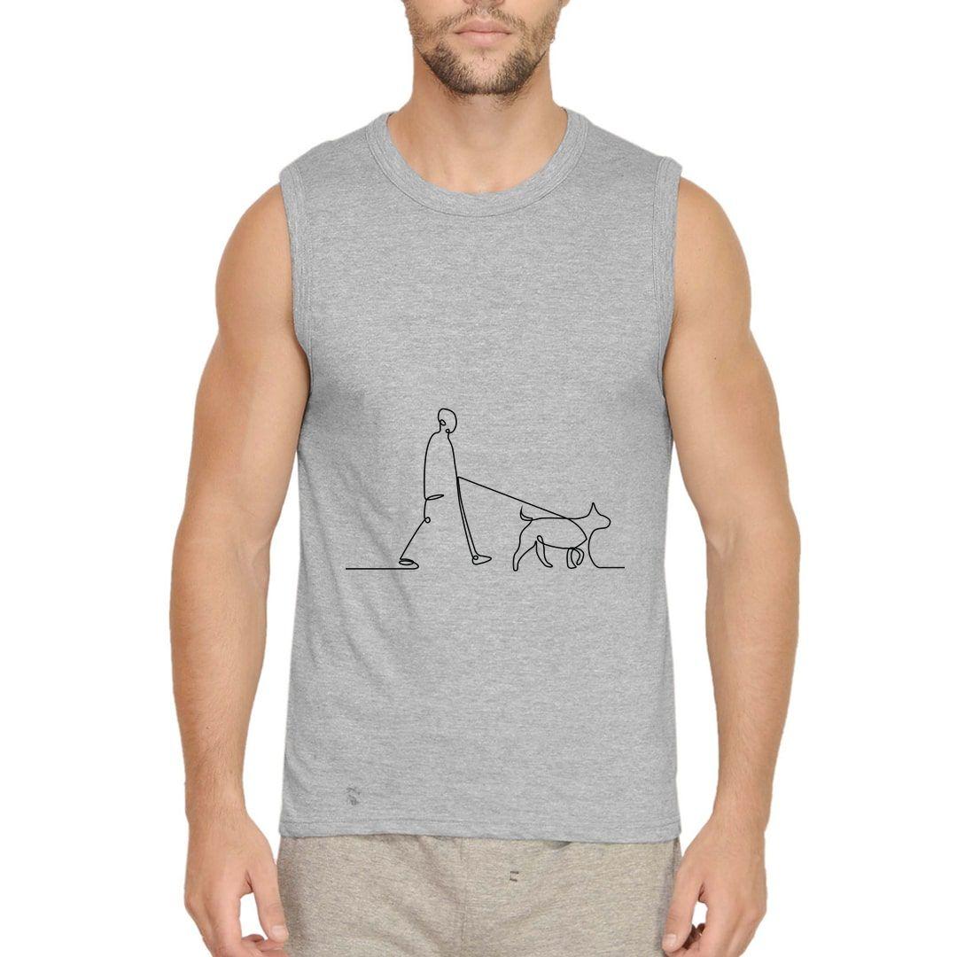 E0bcf1d3 Human With Dog Line Art Men Sleeveless T Shirt Vest Grey Front.jpg