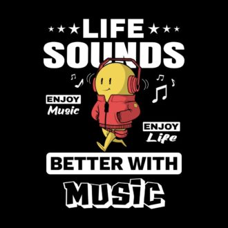 f18e29cf life sounds better with music black