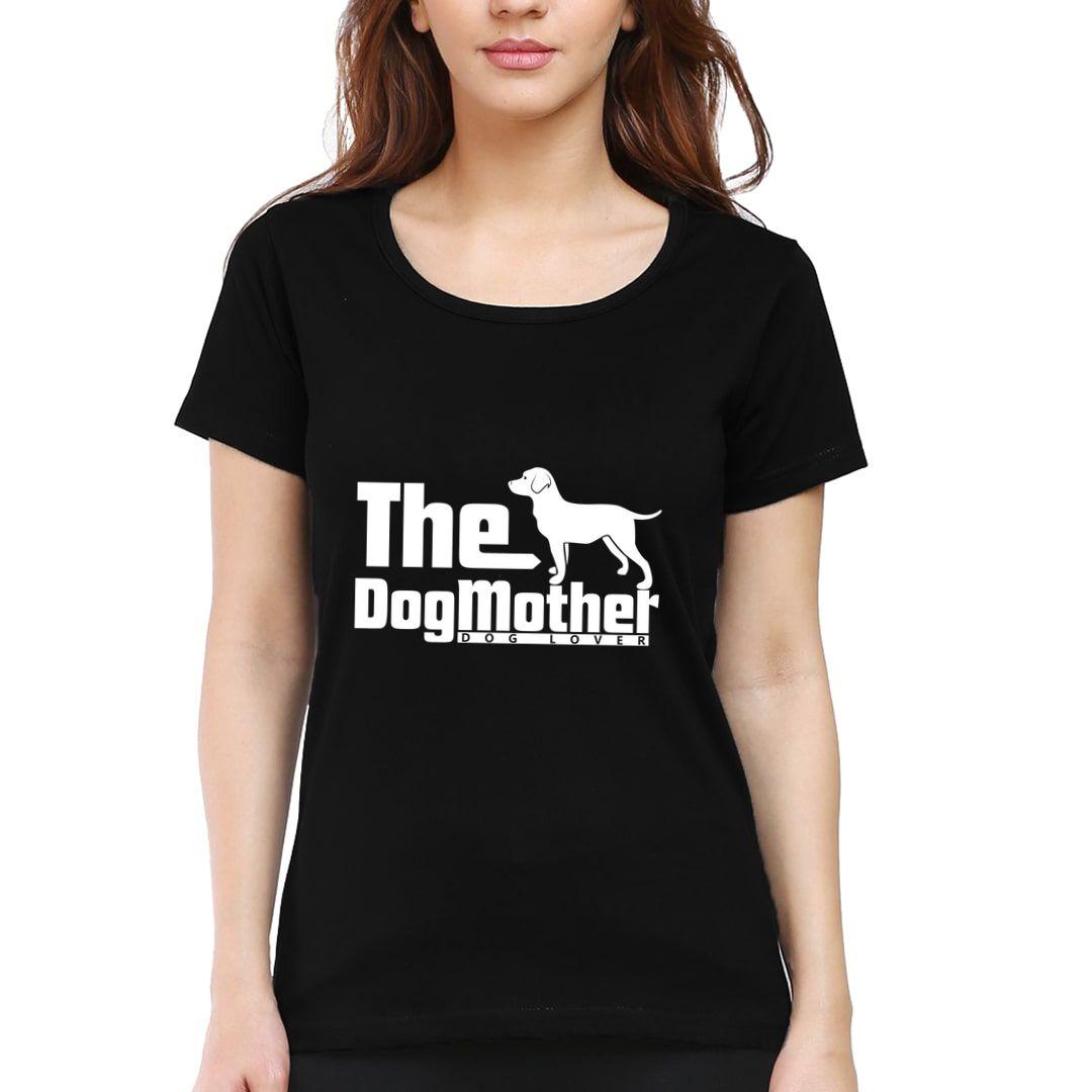 F5d9fd76 The Dog Mother Women T Shirt Black Front.jpg