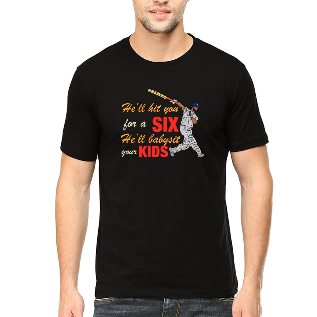 007fad4c R Pant Hell Hit You For A Six Hell Baby Sit Your Kids Men T Shirt Black Front.jpg