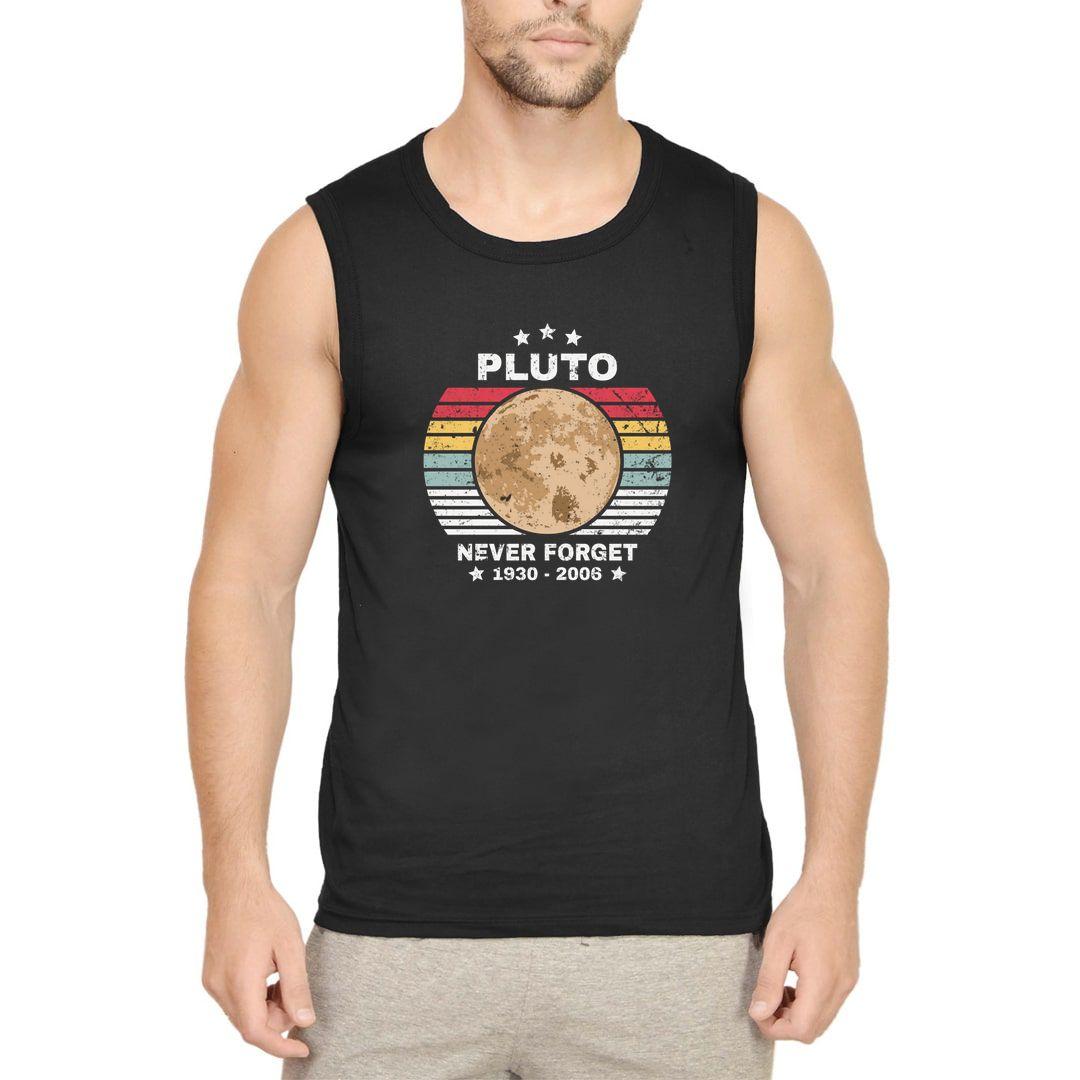 024ba082 Pluto Never Forget Men Sleeveless T Shirt Vest Black Front.jpg
