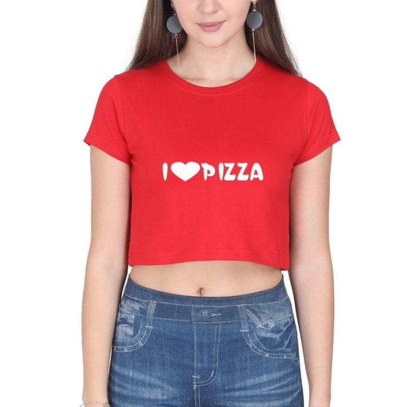 3a6da420 i love pizza women crop top red front.jpg